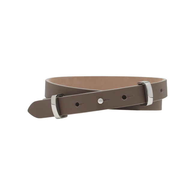 Mulberry Metal Loop Belt Taupe Silky Classic Calf