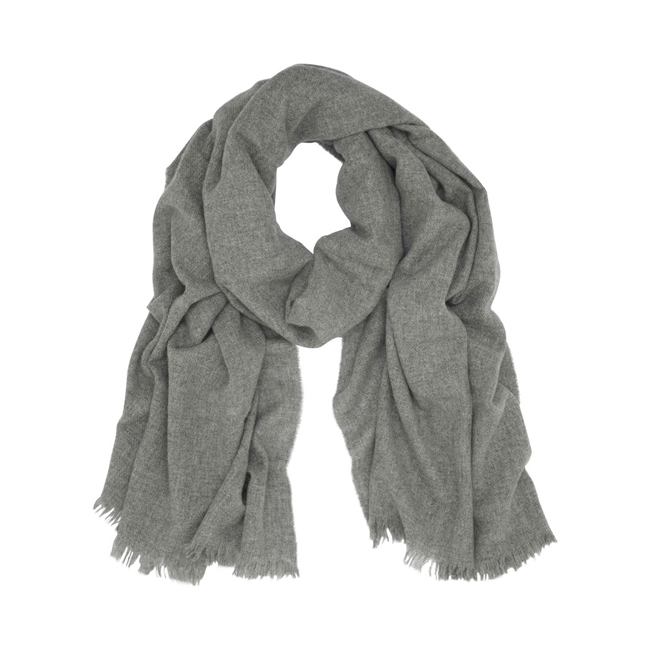 Mulberry Cashmere Wrap Grey Marl Cashmere
