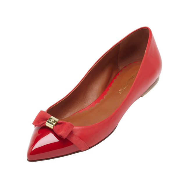 Mulberry Bow Ballerina Bright Red Patent & Nappa Mix