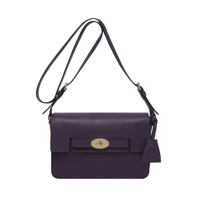 Mulberry Bayswater Shoulder Aubergine Grainy Calf