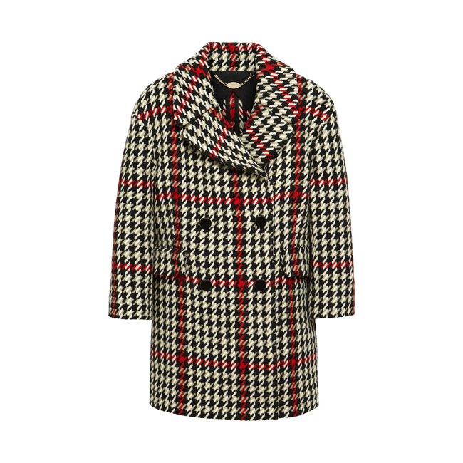 Mulberry Peacoat Black Houndstooth Check