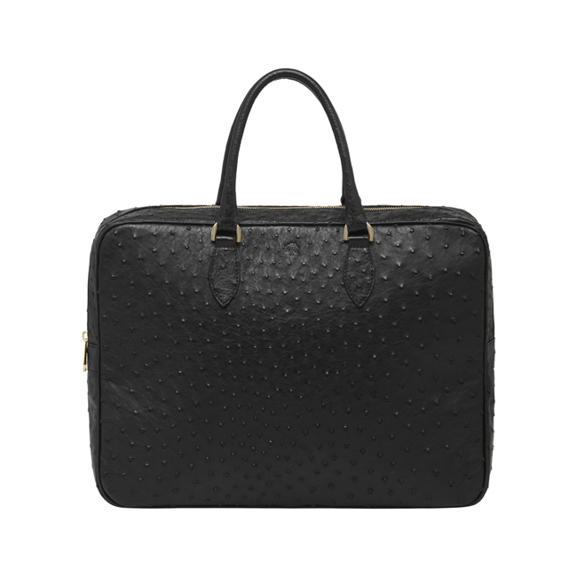 Mulberry Tony Black Ostrich