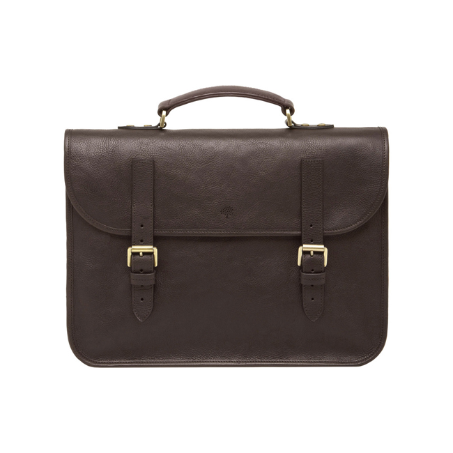 Mulberry Elkington Chocolate Natural Leather
