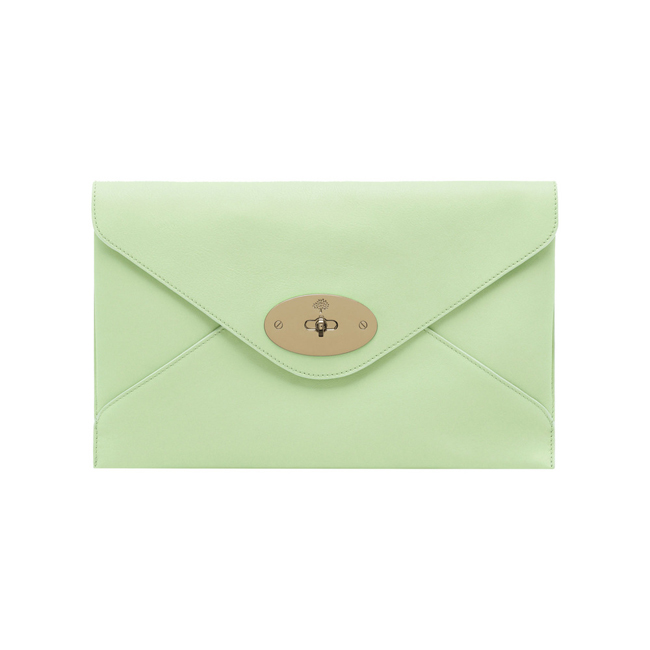 Mulberry Willow Clutch Mint Classic Calf