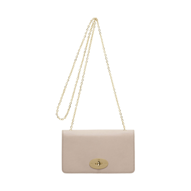 Mulberry Bayswater Clutch Wallet Oatmeal Micrograin Calf