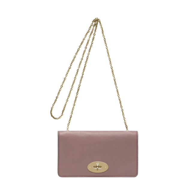Mulberry Bayswater Clutch Wallet Dark Blush Glossy Goat Leather