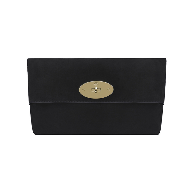 6ac3ef683088 Cheap Mulberry Oversized Clemmie Clutch Black Suede online store