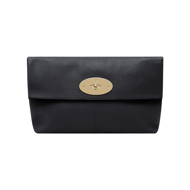 8addbc45b04e Cheap Mulberry Oversized Clemmie Clutch Black Glossy Goat Leather ...