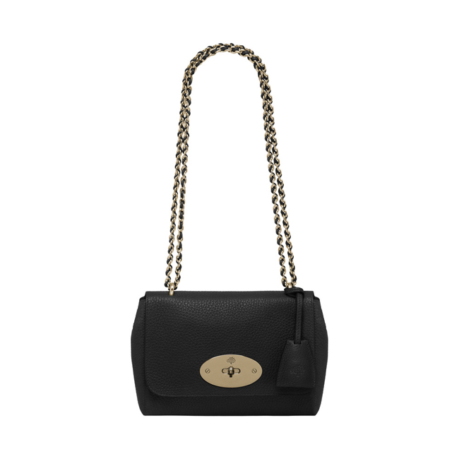 Mulberry Lily Black Soft Grain Leather With Soft Gold