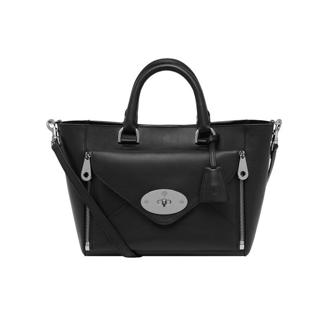 Mulberry Small Willow Tote Black Silky Classic Calf With Nickel