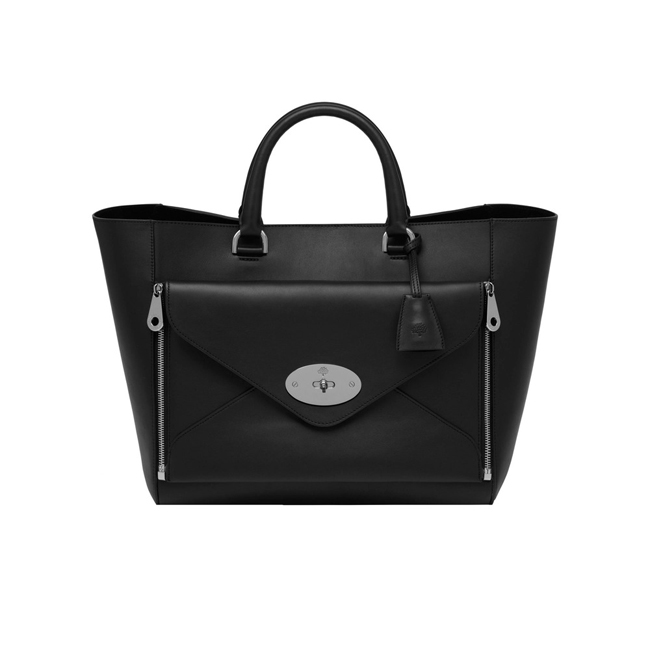 Mulberry Willow Tote Black Silky Classic Calf With Nickel