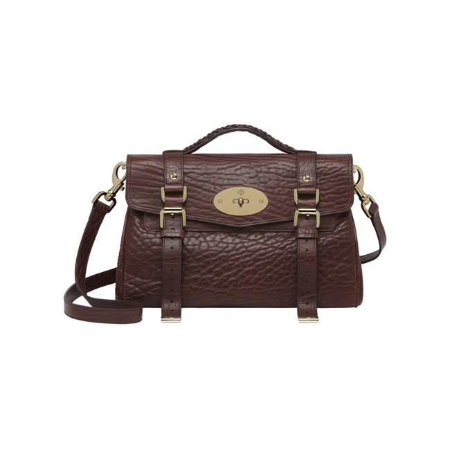 Mulberry Alexa Oxblood Shrunken Calf