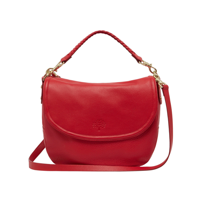 Mulberry Effie Satchel Bright Red Spongy Pebbled