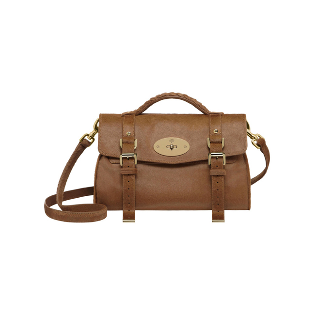 Mulberry Alexa Deer Brown Hair Calf