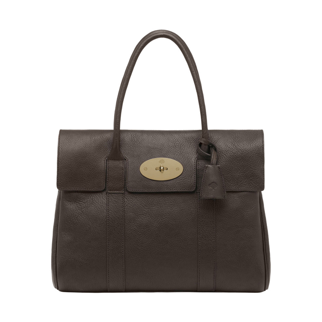 Mulberry Bayswater Chocolate Natural Leather With Brass