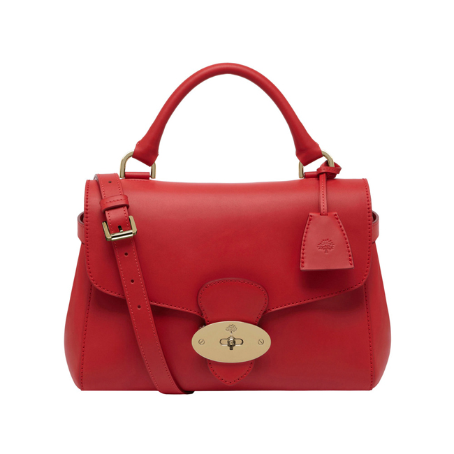 Mulberry Primrose Bright Red Polished Calf