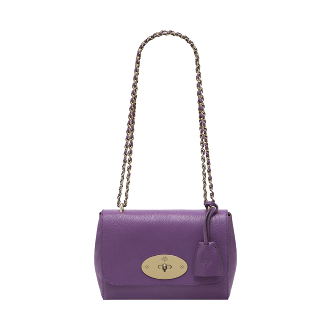 Mulberry Lily Heather Glossy Goat