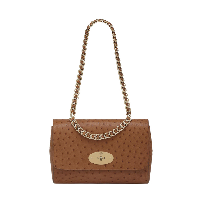 Mulberry Medium Cecily Oak Ostrich
