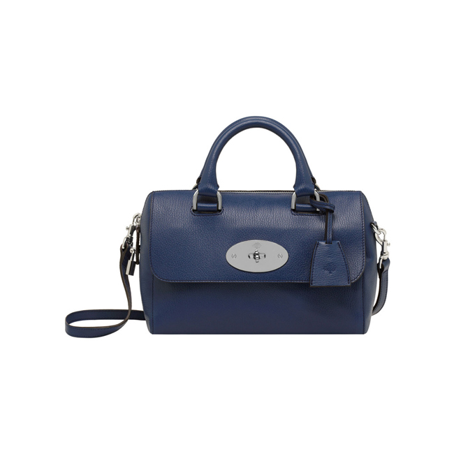 Mulberry Small Del Rey Slate Blue Grainy Print