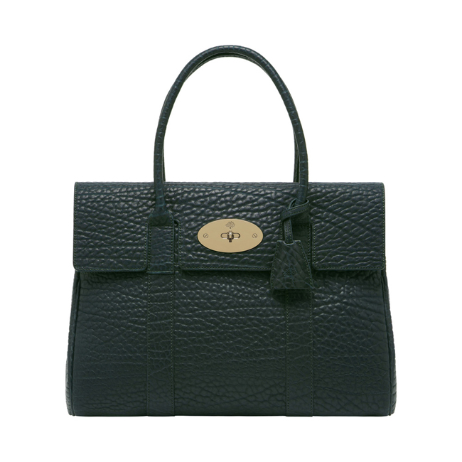 Mulberry Bayswater Pheasant Green Shrunken Calf