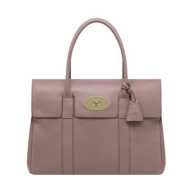 Mulberry Bayswater Dark Blush Glossy Goat Leather
