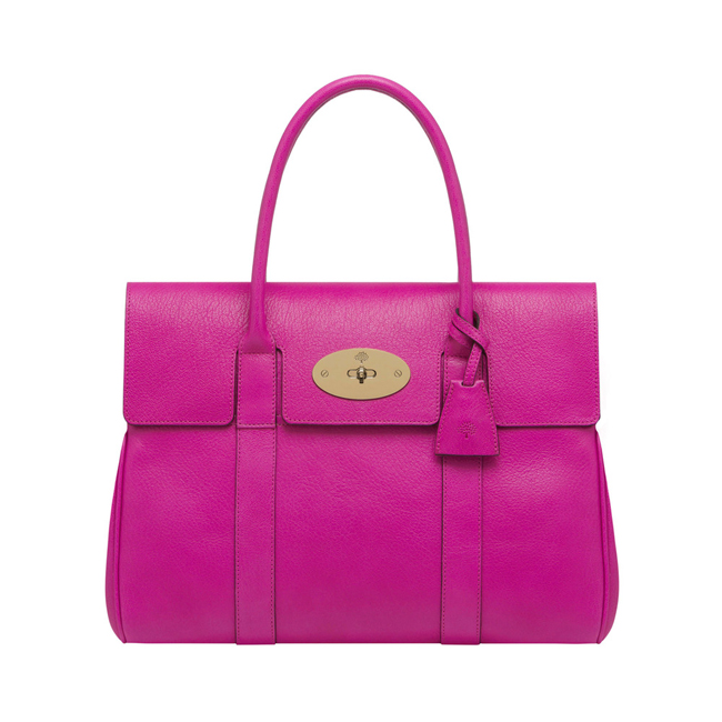 Mulberry Bayswater Pink Glossy Goat