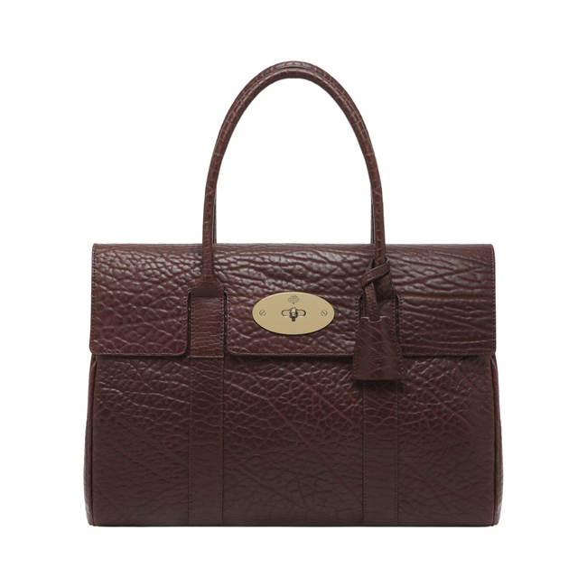 Mulberry Bayswater Oxblood Shrunken Calf