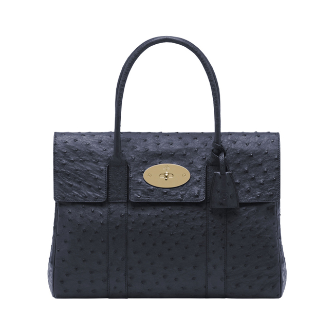 Mulberry Bayswater Ink Blue Ostrich