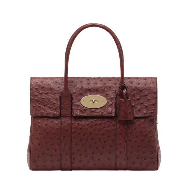 Mulberry Bayswater Black Forest Ostrich