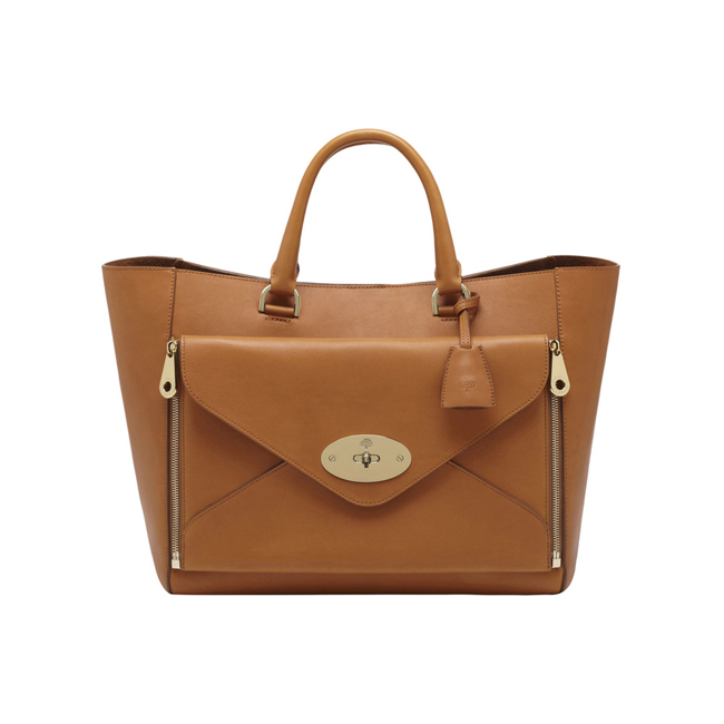 Mulberry Willow Tote Ginger Silky Classic Calf With Soft Gold