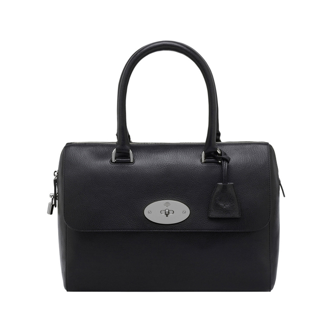 Mulberry Del Rey Black Glossy Goat With Nickel