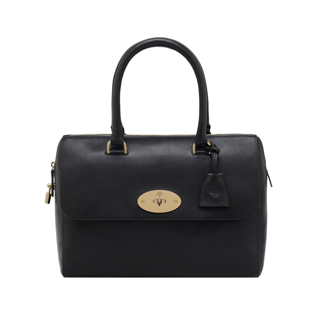 Mulberry Del Rey Black Glossy Goat With Soft Gold