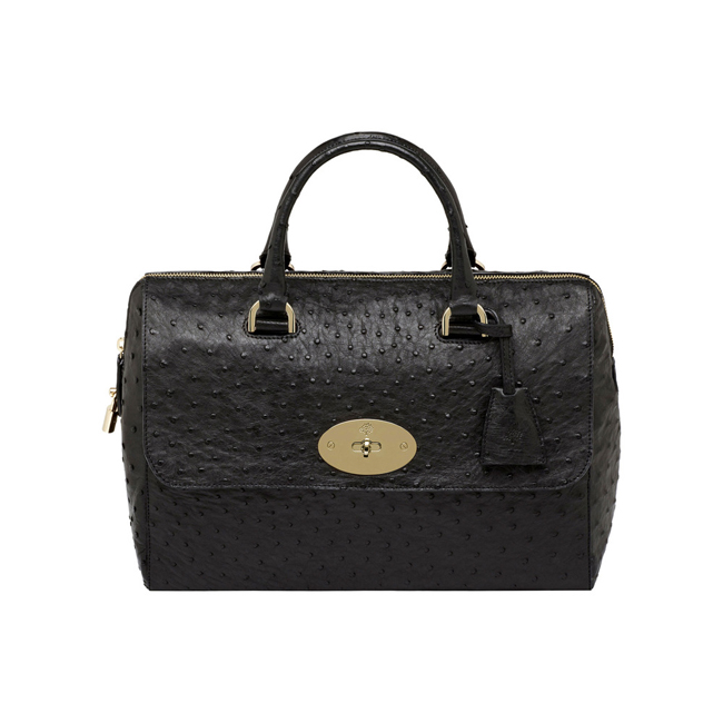 Mulberry Del Rey Black Ostrich