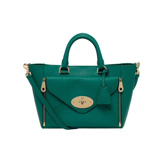 Mulberry Small Willow Tote Emerald Silky Classic Calf