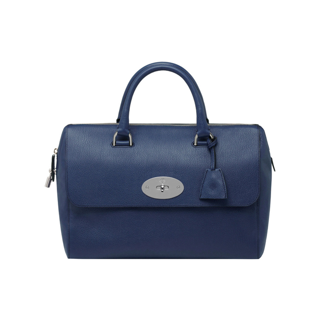 Mulberry Del Rey Slate Blue Grainy Print
