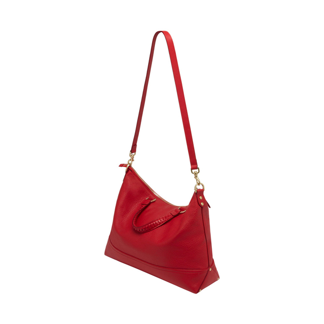 Mulberry Effie Tote Bright Red Spongy Pebbled