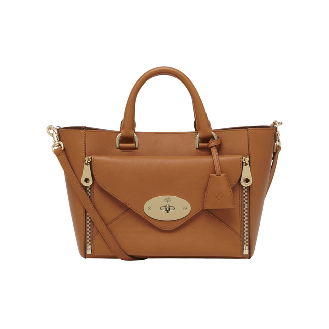 Mulberry Small Willow Tote Ginger Silky Classic Calf With Soft Gold