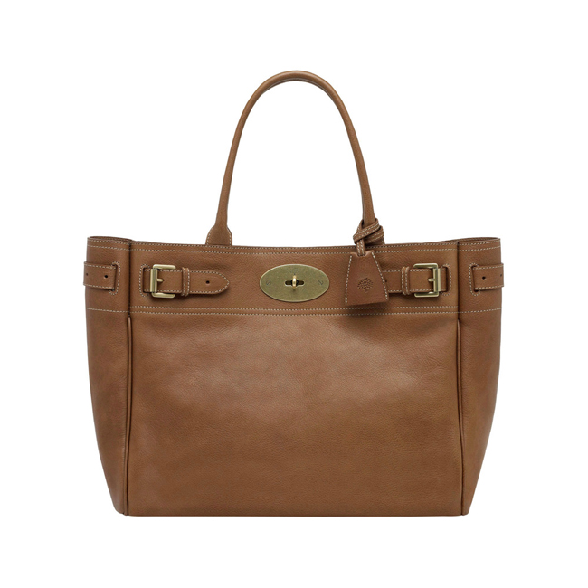Mulberry Bayswater Tote Oak Natural Leather