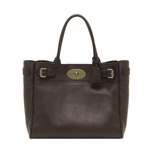 Mulberry Bayswater Tote Chocolate Natural Leather