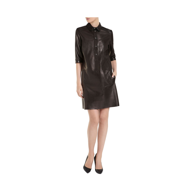 Mulberry Shirt Dress Black Soft Nappa