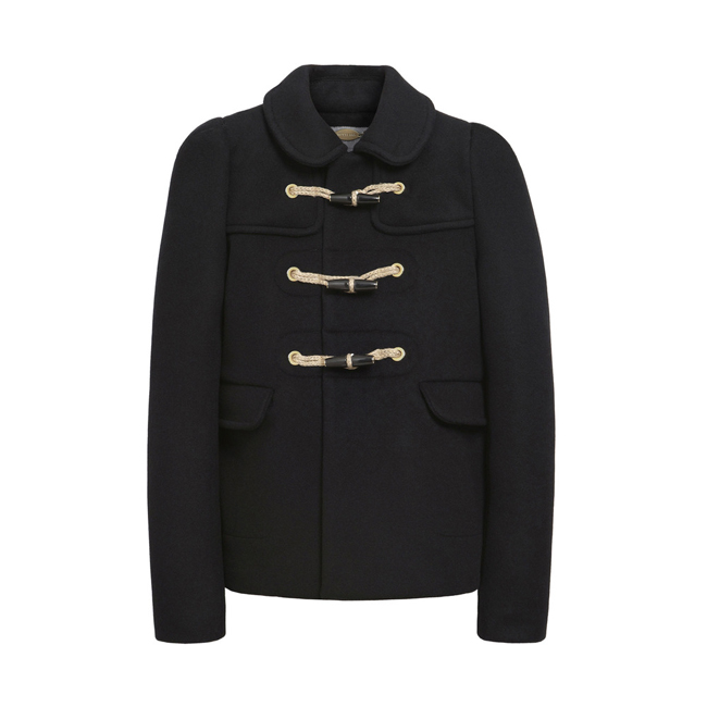 Mulberry Duffle Jacket Black Double Faced Wool