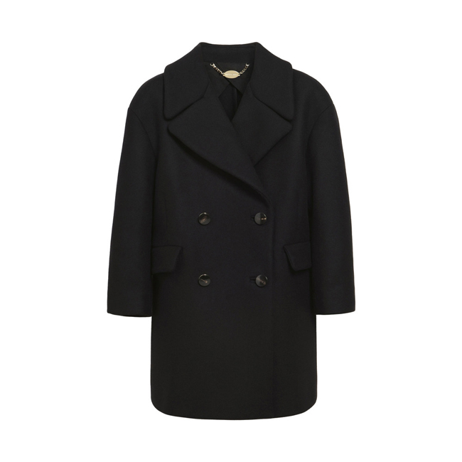 Mulberry Peacoat Black Double Faced Twill