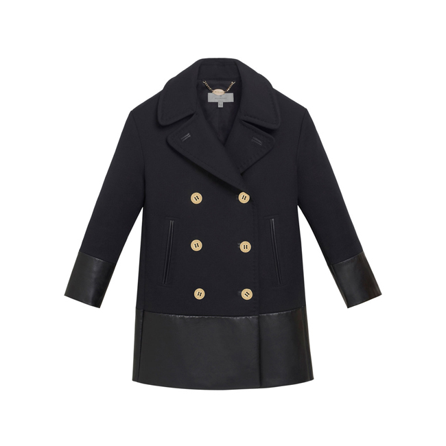 Mulberry Peacoat Black Double Faced Cotton