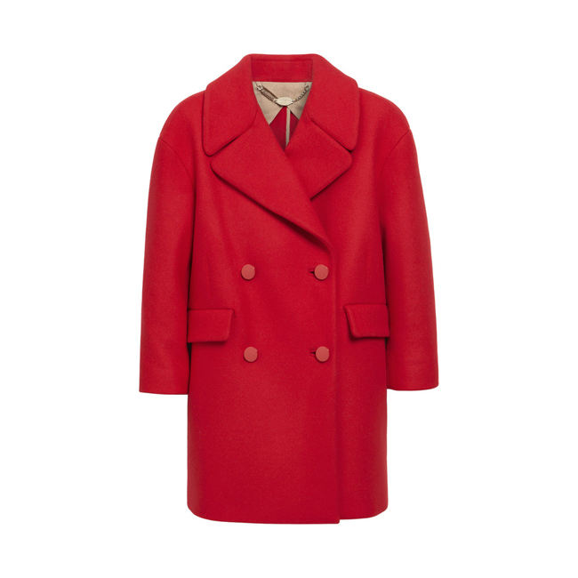Mulberry Peacoat Bright Red Double Faced Twill