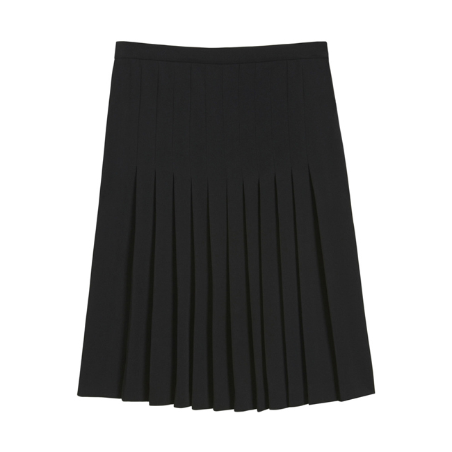 Mulberry Pleated Skirt Black Triple Georgette