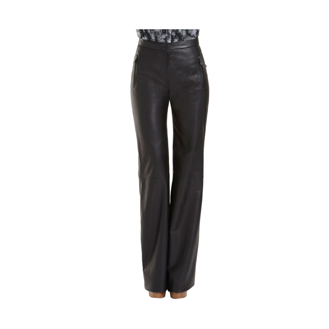 Mulberry High Waisted Trousers Black Soft Nappa