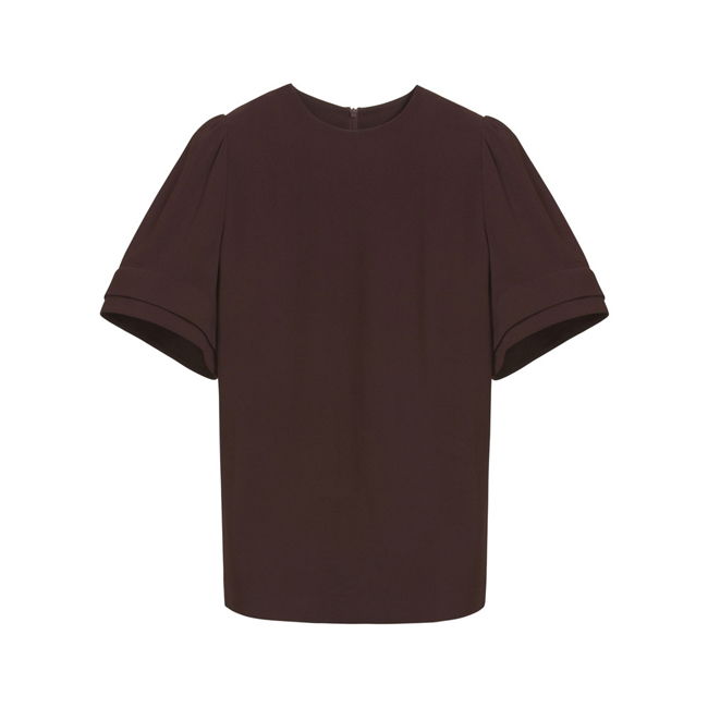 Mulberry Soft Bell Top Oxblood Triple Georgette
